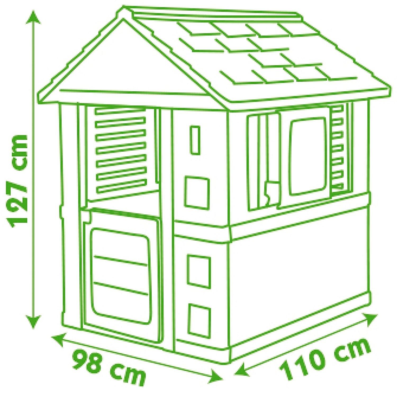 Avis test cabane smoby maison nature taille cabane - Petite maison de jardin en plastique ...